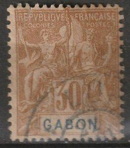 Gabon 1904 Sc 24 used