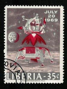 Space 1969 Liberia 35c  (TS-571)