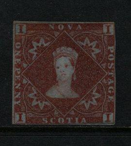 Nova Scotia #1 Mint Fine Unused (No Gum) **With Certificate**