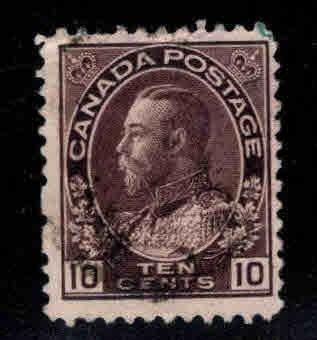 Canada Scott 116 Used Plum colored Stamp
