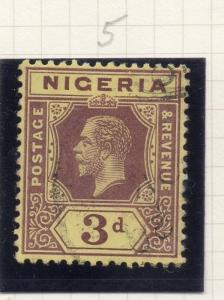 Nigeria 1914-29 Early Issue Fine Used 3d. 275596