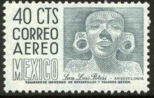MEXICO C471, 40¢ 1950 Defin 9th Issue Unwmkd Fosfo Glazed. MINT, NH. F-VF.