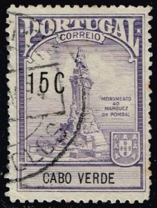 Cape Verde #RA3 Pombal Monument; Used (3Stars)