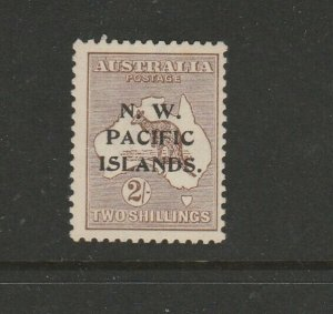 New Guinea 1915/6 Kangaroo 2/- Wmk Inverted Fresh MM SG 97w