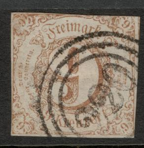 Thurn & Taxis, Southern District (German State) Stamp Scott #55, Used, Hinge ...