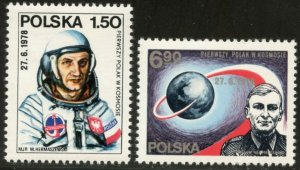 POLAND Sc#2270-71 & 2270a-71a in sheets of 6 1978 Polish Cosmonauts Mint NH