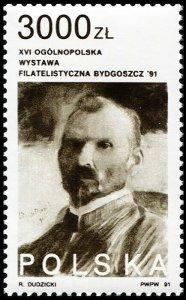 Poland 1991. Leon Wyczolkowski (1852-1936), painter (MNH OG) Stamp