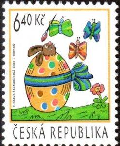 Czech Republic 3195 - Mint-NH - 6.40k Easter / Egg (2003) (cv $0.95)