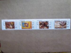 Libya - 1108 ,Strip of Four,  MNH Set. Gauguin Paintings. SCV - $3.00