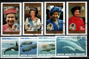 British Antarctic Territory #240-47  F-VF Used CV $17.15 (X776)