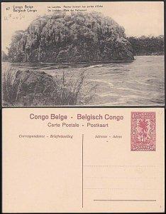 BELGIAN CONGO 10c pictorial card unused : Lualaba rocks.....................E858