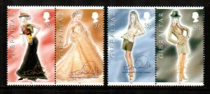 Gibraltar #737a-738a  MNH  Scott $7.00   2 Pairs