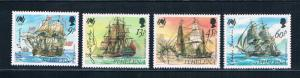 St Helena 493-96 MNH set Ships 1988 (S0940)