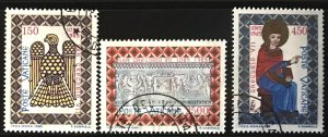 Vatican #758-760 U CV$4 St. Gregory VII/Byzantine Eagle/Basilica [180740]