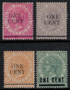 Straits Settlements #77,9,80,2*  CV $6.35