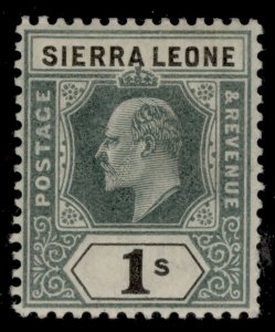 SIERRA LEONE EDVII SG82, 1s green and black, LH MINT. Cat £26.