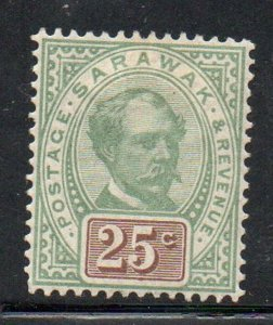 Sarawak Sc 18 1888 25c Sir Charles Johnson Brooke stamp mint