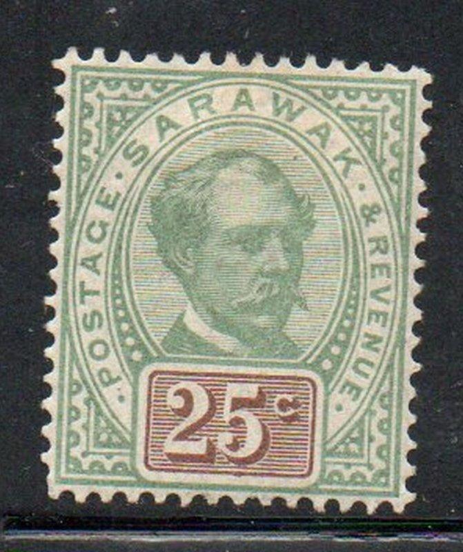 Sarawak Sc 18 1888 25c Sir Charles Johnson Brooke stamp mint