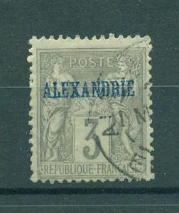 French Offices Egypt Alexandria sc# 3 used cat val $2.50