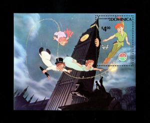 DOMINICA - 1980 - DISNEY - PETER PAN - FAIRY TALES - CHILDREN - MINT NH S/SHEET!