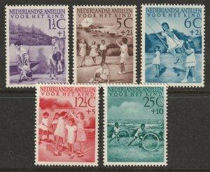 Netherlands Antilles 1951 Sc B10-4 set MLH*