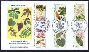 UN New York 575-576 Medicinal Plants Joint Issue WFUNA U/A FDC