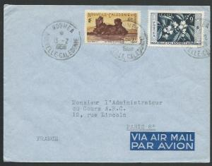NEW CALEDONIA 1958 airmail cover Noumea to France..........................58658