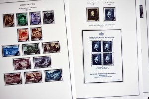COLOR PRINTED LIECHTENSTEIN [CLASS.] 1912-1941 STAMP ALBUM PAGES (23 ill. pages)