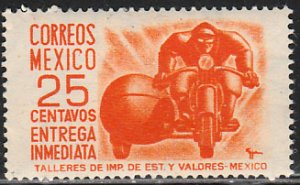 MEXICO E14, 25cents 1950 Definitive 2nd Printing wmk 300. UNUSED, NG. F-VF.