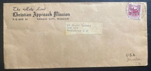 1930s Bethlehem Palestine Christian Mission Cover To Rochester NH USA
