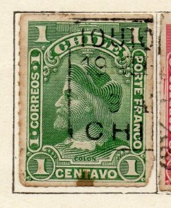 Chile 1900 Early Issue Fine Used 1c. NW-11408
