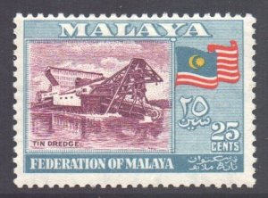 Malaya Federation Scott 82 - SG3, 1957 Tin Dredger 25c MH*