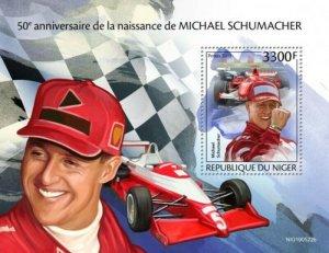 Niger - 2019 Racing Driver Michael Schumacher - Stamp Souvenir Sheet NIG190522b