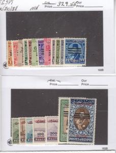 EGYPT # N20-N38 VF-MLH CAT VALUE $329.55