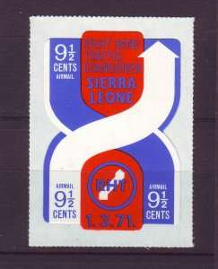 J24483 JLstamps 1971 sierra leone set of 1 mnh #c131 traffic pattern