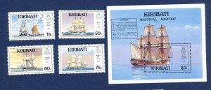 KIRIBATI - Scott 557-561 - FVF MNH - Ships - 1990