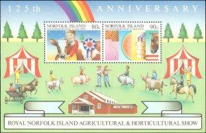 Norfolk Islands #372a, Complete Set, Souvenir Sheet Only, 1985, Never Hinged