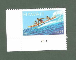 4415 Hawaii Statehood US Single W/Plate Number Mint/nh Free Shipping