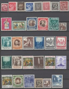 COLLECTION LOT OF # 1964 VATICAN 32 MH STAMPS 1938+