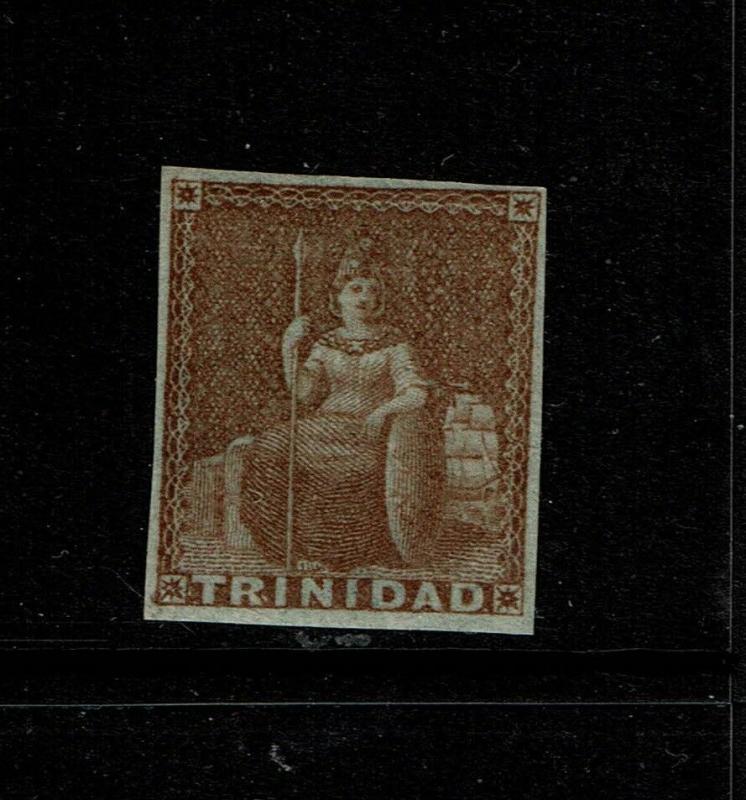 Trinidad SG# 2 Mint Hinged / Multi Hinge Rem / Most OG (90%) - S6240