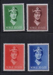 Norway Sc B11-14 1939 Queen Maud stamp set mint NH