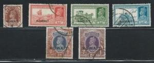 Kuwait 45 47 48 50 53 54 KGVI part set Used