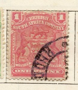 Rhodesia 1898 Early Issue Fine Used 1d. NW-11479
