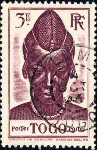 TOGO - 1941 -Yv.204 / Mi.152 3fr violet-brun - Oblitéré TB LOMÉ CDS