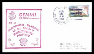 1965 PROJECT GEMINI V - MANNED FLIGHT U.S. NAVY RECOVERY FORCE (ESP#1186)