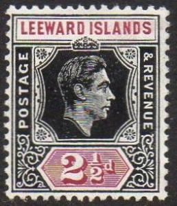 Leeward Islands 1949 2½d black and purple MH
