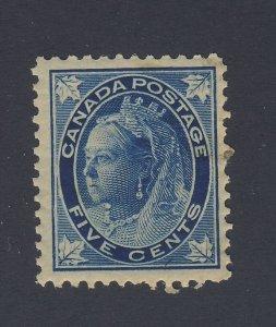 Canada Stamp #70-5c Victoria Maple Leaf MH F/VF Guide Value = $90.00