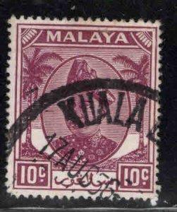 MALAYA Selangor Scott 86 used 1949 stamp