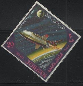 JORDAN, 521C, MNH, 1965, Rocket in space