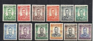 Southern Rhodesia 1937 vals to 2s 6d MH